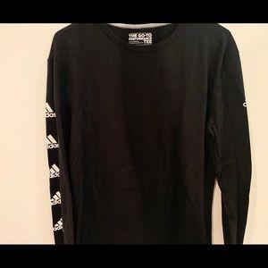 Black adidas long sleeves shirt
